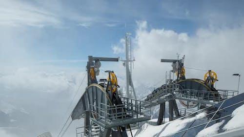 Courmayeur alps cablecar italy mountains snow peaks ski