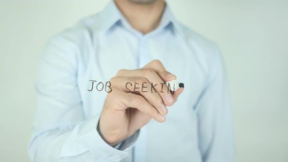 Thumbnail for Job Seeking, Writing On Screen