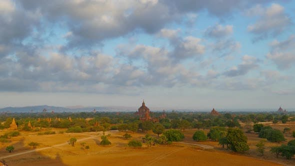 Thumbnail for Morning Landscape with Temples in Bagan, Timelapse