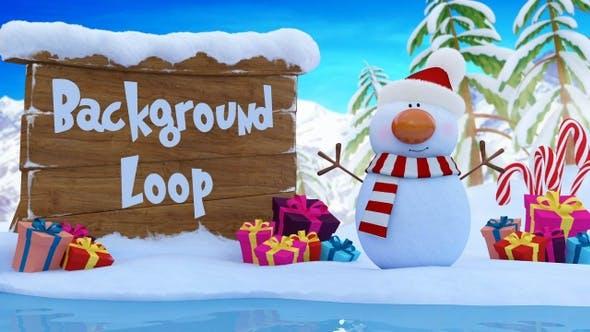 Snowman Background Loop (HD)