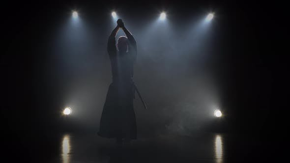 Thumbnail for Kendo Guru Practicing Martial Art with the Katana Sword.