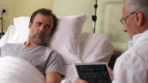 Thumbnail for Anxious Sick Man Hearing Bad News From Physician
