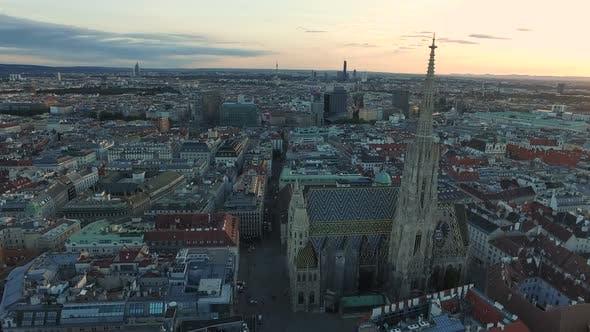 Aerial of Stephansplatz