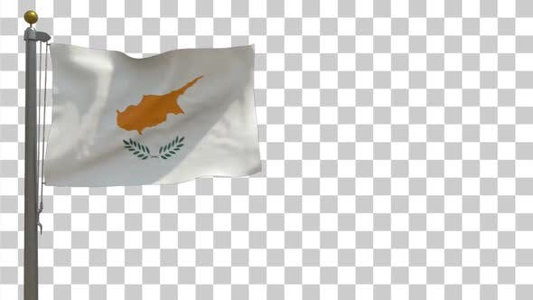 Thumbnail for Cyprus Flag on Flagpole with Alpha Channel - 4K