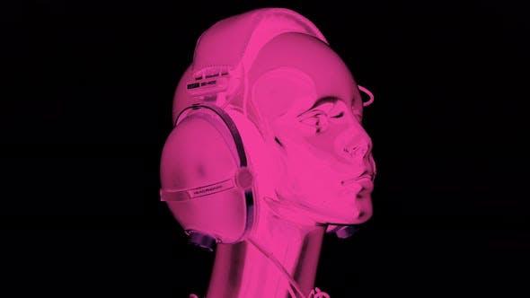 mannequin music headphones retro vintage disco party head