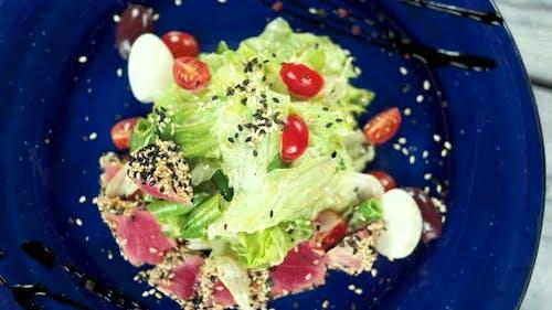 Nicoise Salad Top View.