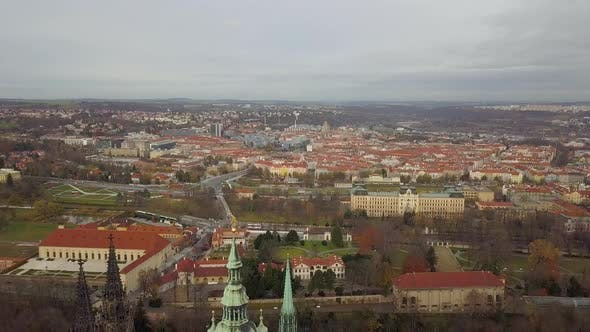 Thumbnail for Aerial Panoramic View To St. Vitus Cathedral in Prague