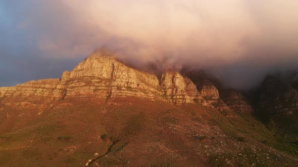 Thumbnail for Table Mountain with Peak Covered with Fog
