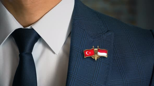Thumbnail for Businessman Friend Flags Pin Turkey Indonesia