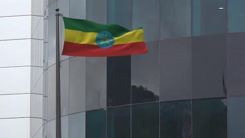 Ethiopia Flag Background 4K