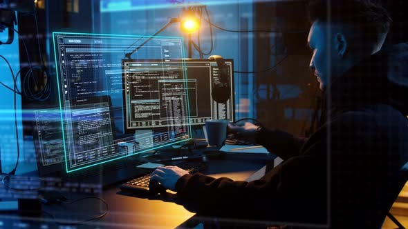 Cover Image for Hacker Using Computer Virus for Cyber Attack