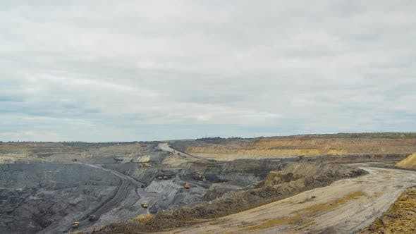 Timelapse Open Pit Coal Mining