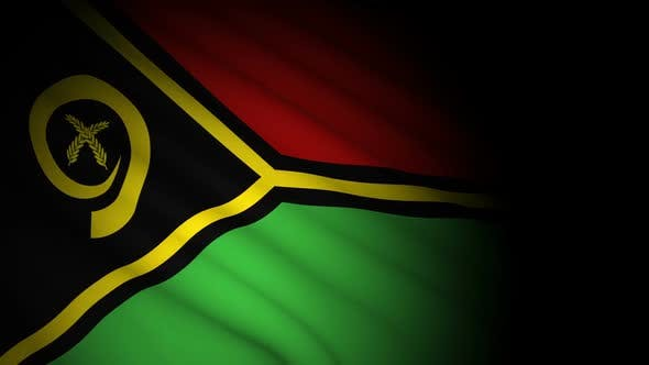 Cover Image for Vanuatu Flag Blowing in Wind