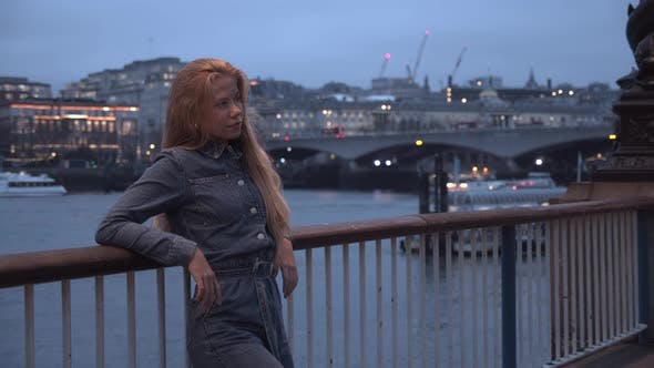 Thumbnail for Teenage Girl In Jumpsuit Waiting In London