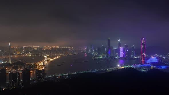 Thumbnail for Macau – Zhuhai Border Earial Cityscape