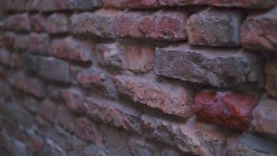An outdoor brick wall