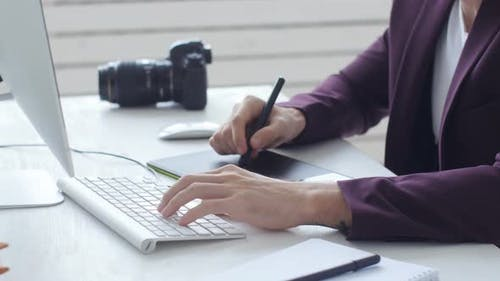 Concept of Graphic Design and Professional Photography