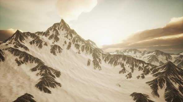 Thumbnail for Sunset in Alpes Mountains