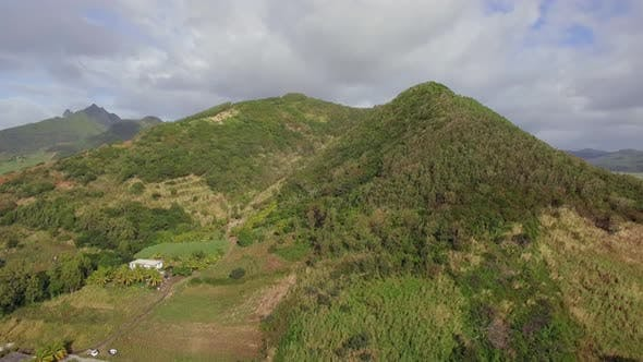 Thumbnail for Flying Over Green Hill on Mauritius Island