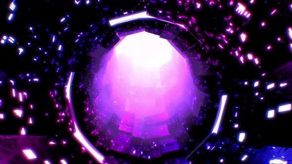 Futuristic Tunnel Background