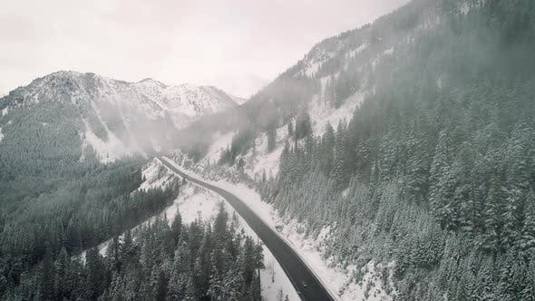 Thumbnail for Snowy Mountain Highway Aerial Cloud Hyperlapse