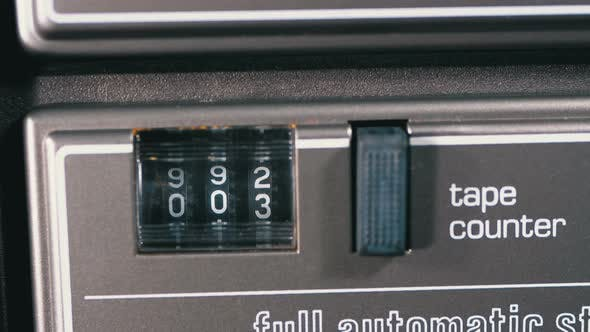 Thumbnail for Counter of the Audio Cassette in the Tape Deck Recorder Is Rotating