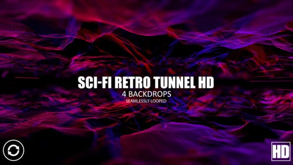 Thumbnail for Sci  Fi Retro Tunnel HD