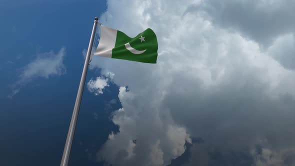 Pakistan Flag Waving 4K
