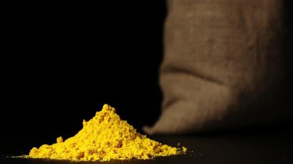 Thumbnail for Turmeric Powder Heap Growing Near A Sac