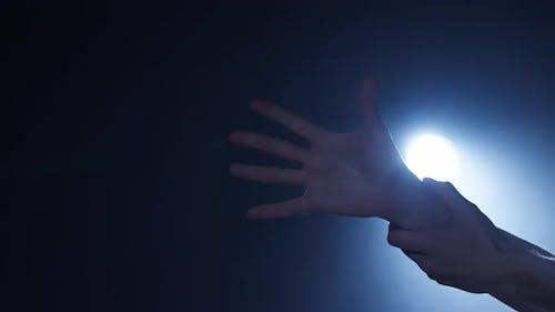 Hands Dancing Closeup