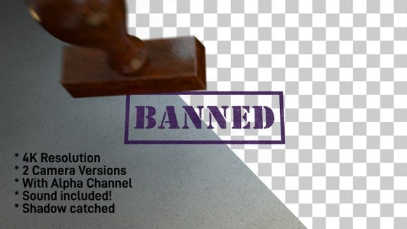 Thumbnail for Banned Stamp 4K - 2 Pack