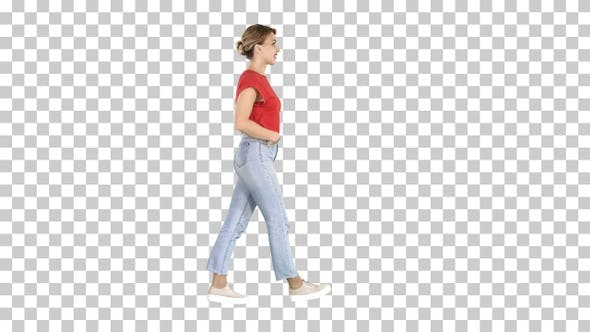 Thumbnail for Fit girl holding her hands in the pockets of blue jeans