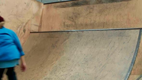 Thumbnail for Teenager Practicing Skateboarding