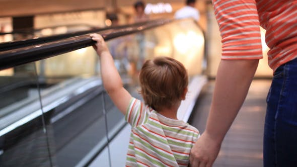 Thumbnail for Little Boy Rises On The Escalator