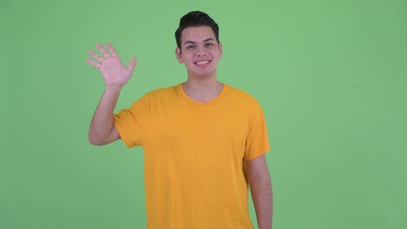 Cover Image for Happy Young Multi Ethnic Man Waving Hand
