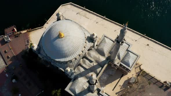 Thumbnail for Istanbul Bosphorus And Ortakoy Mosque Quarantine Aerial View