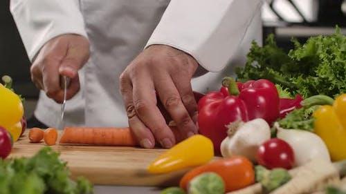 Carrot on a Cutting Board