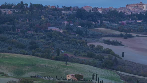 Thumbnail for Evening over Pienza