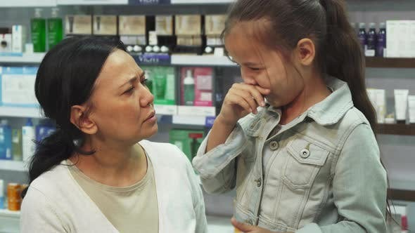 Thumbnail for Mom Looks Very Worried Because Her Daughter Sneezed