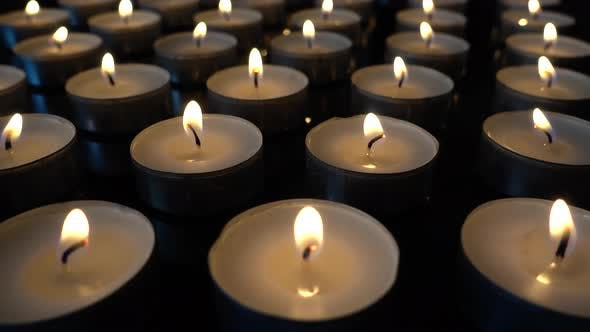 Thumbnail for Candles on a Black Background
