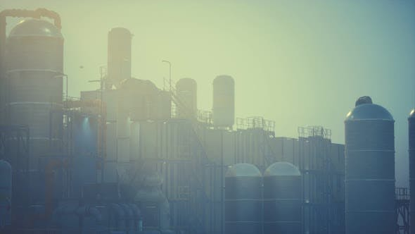 Thumbnail for Refinery Factory with Oil Storage Tanks