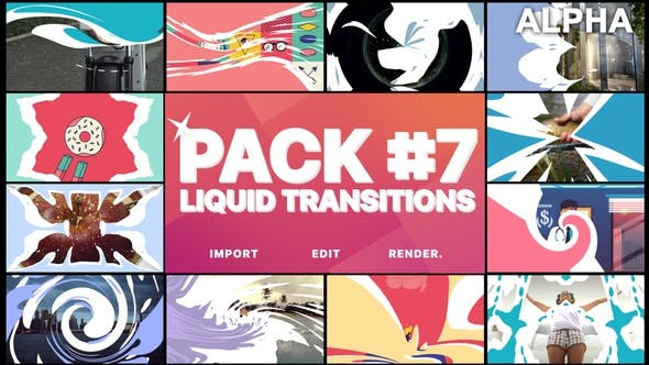 Thumbnail for Liquid Transitions Pack 07 | Motion Graphics Pack