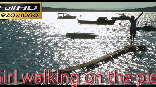 Thumbnail for Girl Walking On The Pier