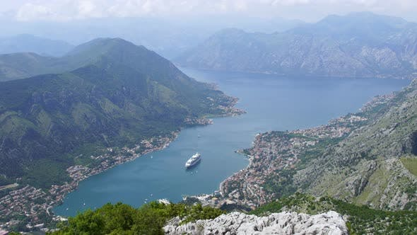Beautiful Natural Bay, Travel Destination View, Fjord of Kotor, Montenegro