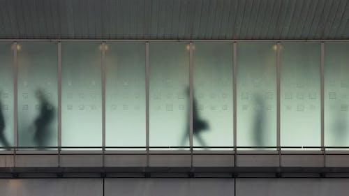 Looping background of people walking in Tokyo