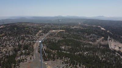 Stop Working Wind Turbine