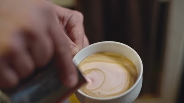 Thumbnail for Pouring Coffee Art Heart