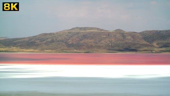 Thumbnail for Red and Pink Colored Salt Lake