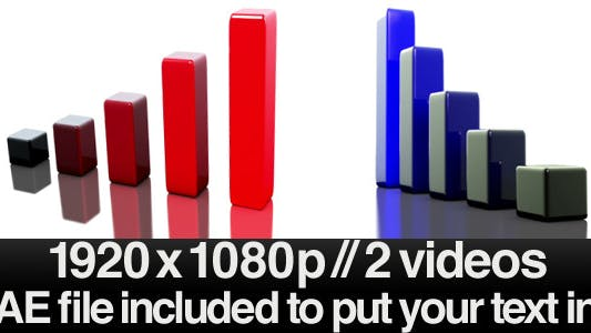Thumbnail for 3D Bar Chart Growing - Multicolored + AE File