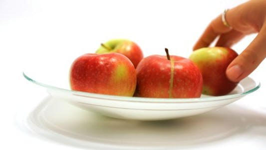 Thumbnail for Taking Healthy Apple from a Vase